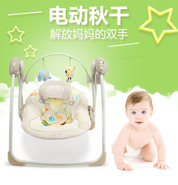 H961eb405263d456e9d0499dc00a5ddadf Newborn Gift Multi-function Music Electric Swing Chair Infant Baby Rocking Chair Comfort Cradle Folding Baby Rocker Swing 0-3Y