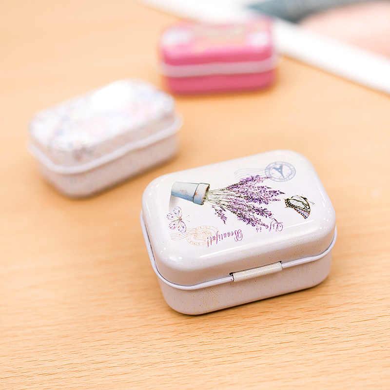 Mini caixa selada da lata da lavanda caixas de embalagem do frasco joias, caixa de doces caixas de armazenamento pequenas latas brincos da moeda, caixa de presente dos fones de ouvido