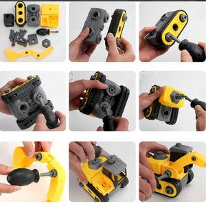 Image 2 - Detachable Engineering Vehicle Car Styling Toys For Children Boys Dump Tracks Educational Model Diecast Cars Toy Kids