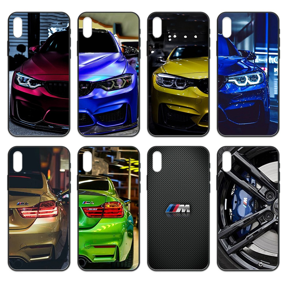 Blue Red sport Car for Bmw M tpu funda Etui black Phone case For iphone 4 4s 5 5S SE 5C 6 6S 7 8 plus X XS XR 11 PRO MAX 2020 image