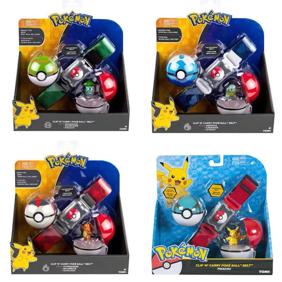 2019 Genuine US Version Pokemon Master Elf Ball Belt Set Telescopic TAKARA TOMY Toys For Children Gift