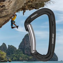 45kN D-Shape Carabiner Climbing Security Safety Buckle Screw Gates Master Lock Carabiner Outdoor Rock Climbing Equipment Z0815(China)