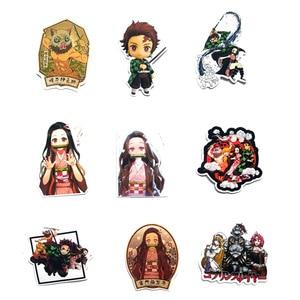 Image 3 - Pegatina de animé Demon Slayer: Kimetsu No Yaiba de PVC pegatinas de grafiti, Maleta, equipaje, guitarra para niños, juguetes F3, 50 Uds.