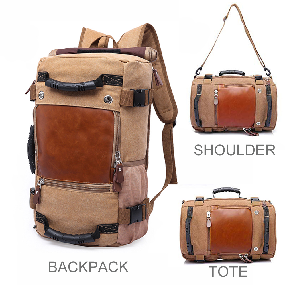 KAKA Brand European Stylish Travel Large Capacity Backpack Male Luggage Shoulder Bag Travel Backpack Canvas High Quality