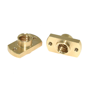 T8 lead screw nut Pitch 2mm Lead 8mm Brass T8 x 8mm Flange Lead Screw Nut for CNC Parts Ender 3 CR-10 3D Printer Accessories 1