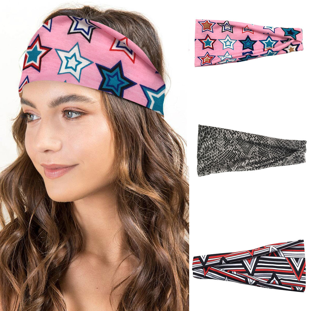 2019 New Unisex Wide Sport Sweat Sweatband Yoga Headband Stretch Head Band Hair Bands #NN828