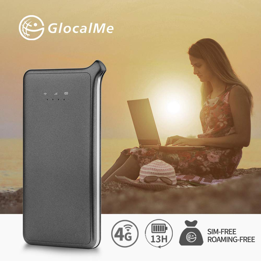 GlocalMe U2S Lite Mobile Hotspot, Worldwide High Speed WiFi Hotspot With 1GB Global Initial Data (Grey)