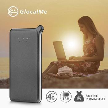 Punto Caliente móvil GlocalMe U2S Lite, punto de acceso WiFi de alta velocidad mundial con 1GB de datos inicial Global (gris)
