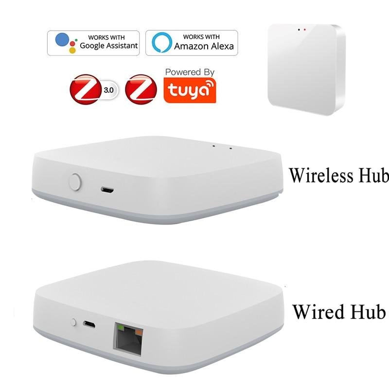 Tuya Zigbee Smart Gateway Hub Smart Home Bridge Smart Life App Automation Wireless Remote Controller Work With Alexa Google Home