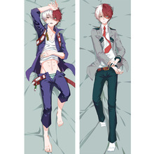 Japan Anime My Hero Academia Todoroki Shouto Hugging Body Dakimakura Pillow Cover Case Boku no Hero