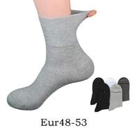 Plus Size EU 50 51 52 winter Men cotton Socks 6 Pairs Solid Color high quality Tube Crew Business Man Socks Comfortable Socks 48