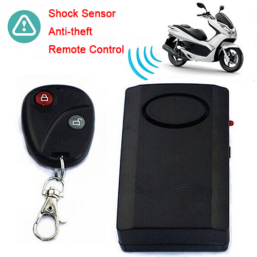 Motorcycle Motorbike Scooter Anti-theft Safe Alarm + RC Keychain For Door Window