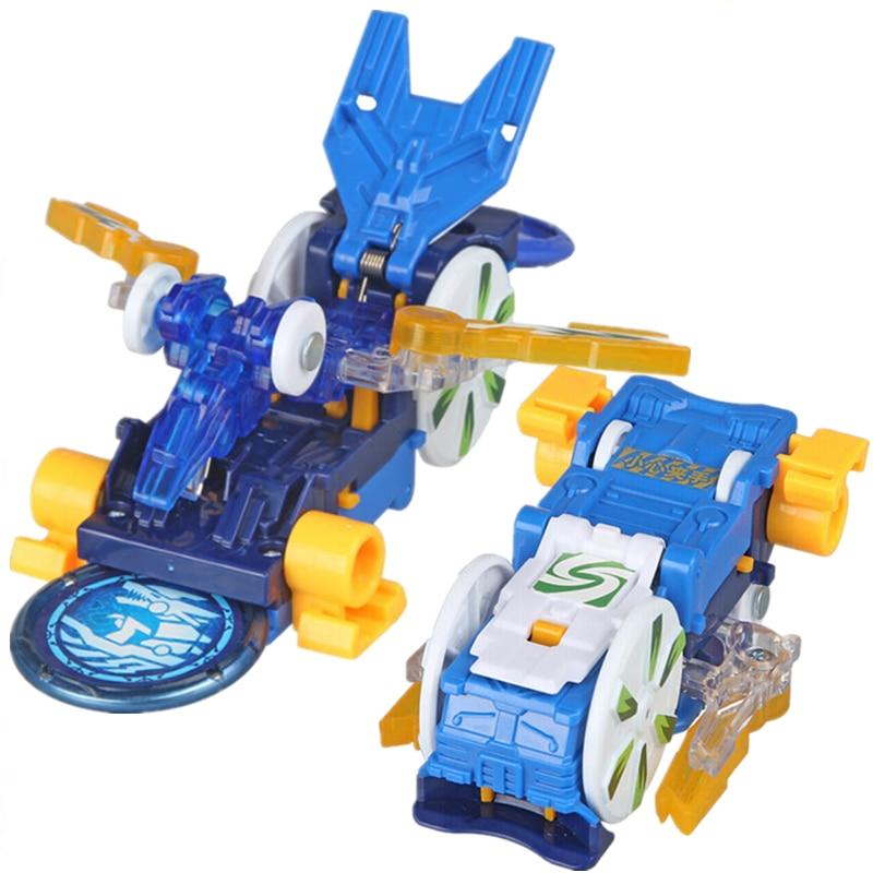 Screechers Wild Burst Speed Deformation Car Action Figures Multiple Chip Capture Wafer 360° Flips Transformation Car Kids Toy