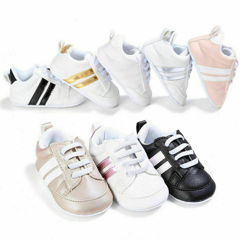 Pudcoco 2019 New Fashion Baby Casual Shoes Baby Kid Crib Shoes Boy Girl Unisex Infant Lace Up Soft Sole Casual Shoes 0-18 M