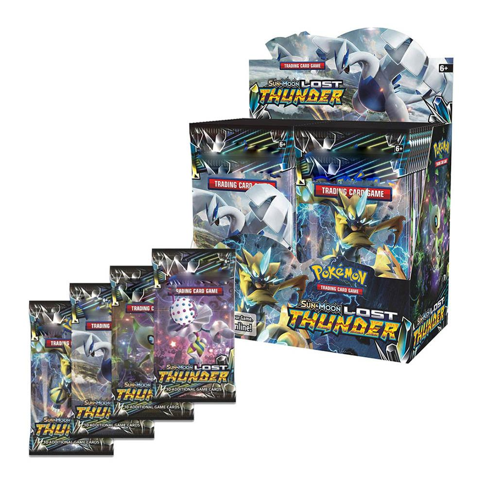 New 36 Pack Pokemon TCG Pokemon Cards Pokemon English Card Sun & Moon Lost Thunder Booster Box image