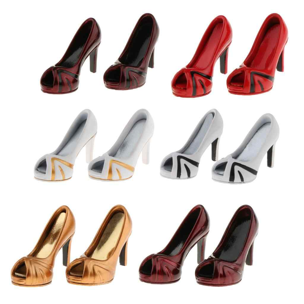 2 Pairs 1:6 High Heel Sandals for 12inch DID TTL Action Figure Dress-Up