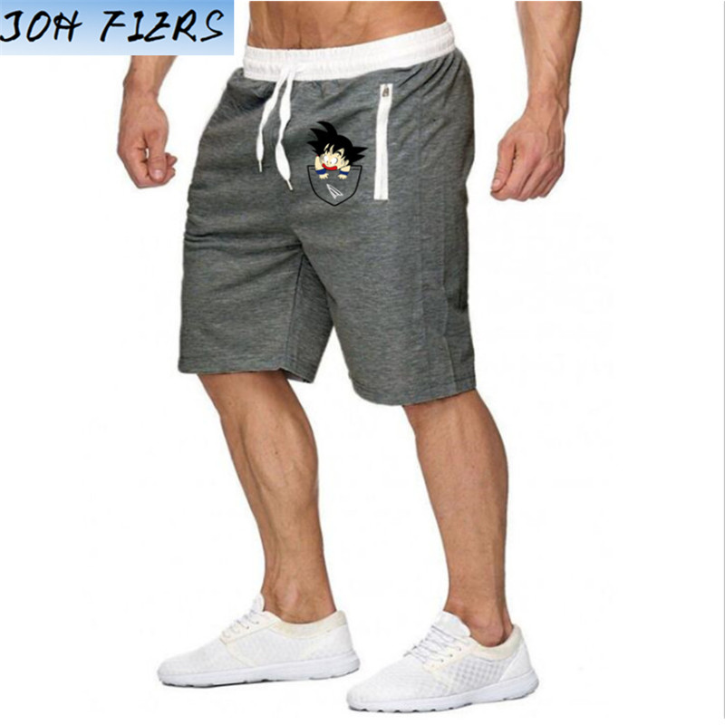 Hot-Selling Summer New Man's Shorts Casual Shorts Fashion Dragon Ball Goku Print Sweatpants Fitness Short Jogger M-XXL