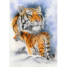 Full round diamond painting embroidery 5D DIY animal tiger cross stitch mosaic diamond painting home decoration friends gifts mooncresin diamond painting cross stitch comfortable tiger animal diy diamond embroidery full round 5d diamond mosaic decoration