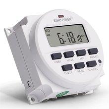 SINOTIMER 5V 12V 24V 110V 220V LCD Digital Timer Switch 7 Days Weekly Programmable Time Relay Control Auto-On/Off Timer Module