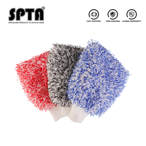 Image 2 - SPTA  Soft Absorbancy Glove  New Style Microfiber Car Washing Gloves Doubleside Colored Velvet Glove