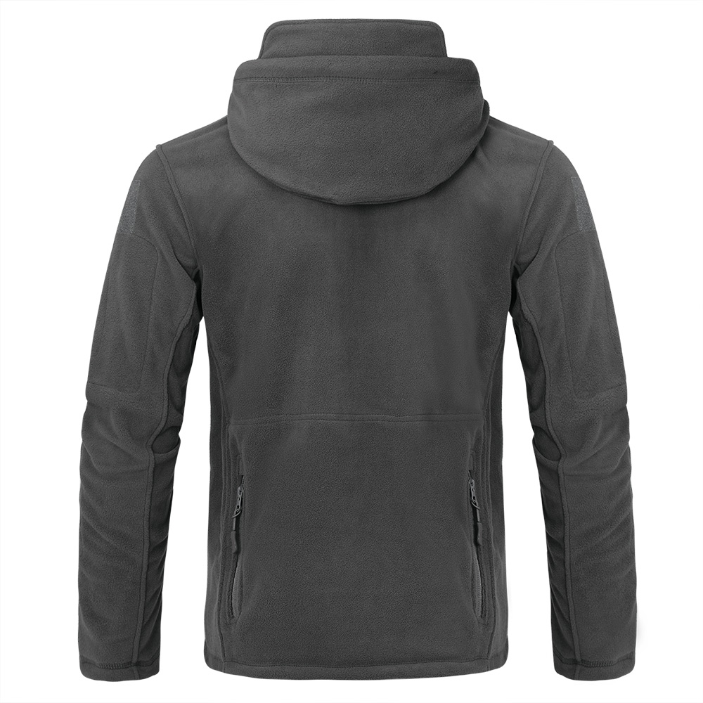 Mens Jackets Outdoor Tactical Fleece Jacket Spring Cardigan Hooded Coat Tops Men Sport Riding Hiking Windproof Thermal Jackets