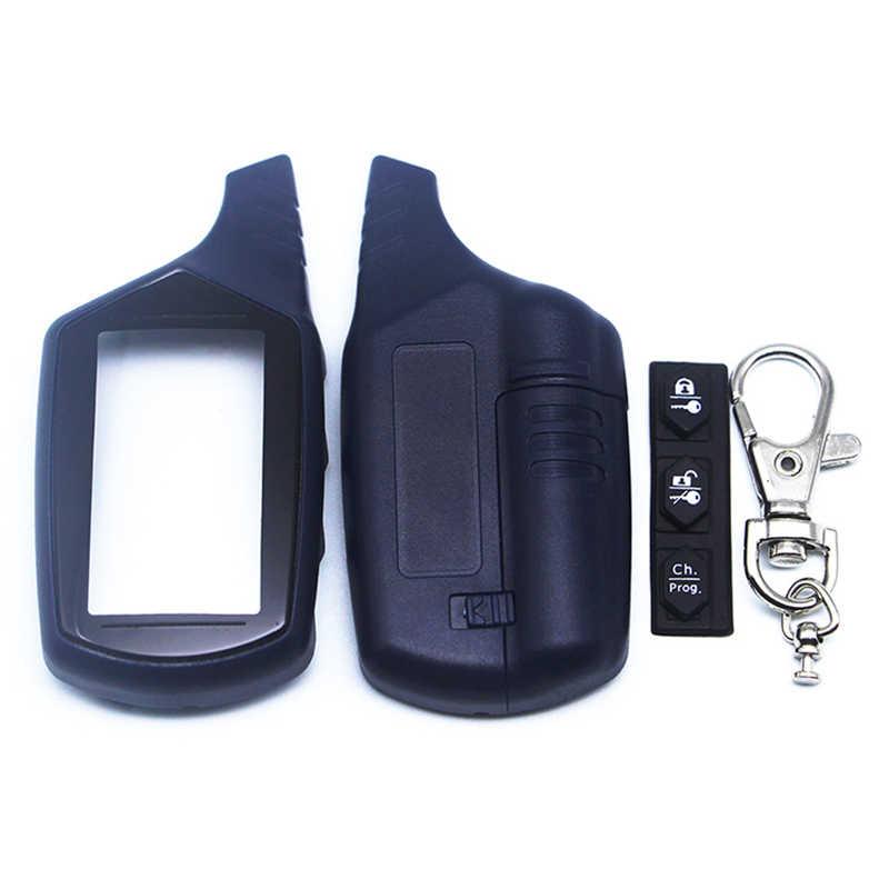 רוסיה גרסה EZ-בטא מקרה keychain + LCD תצוגה עבור יגואר EZ-בטא FX-5 lcd מרחוק שתי בדרך מערכת אזעקה ברכב משלוח חינם