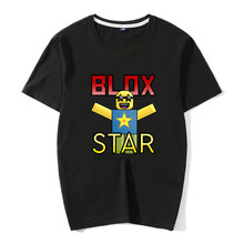 New Arrival Roblox Oof T Shirt Men 2019 Fashion Cartoon Print Men T Shirt Casual Cool Cotton Vintage T-shirt Male's Tops(China)