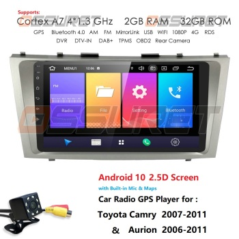 2G+32G Android 10 4G Car Radio Multimedia Player For Toyota Camry Aurion 2007-2011 Navigation GPS Auto 2 din no dvd usb rds obd2 image