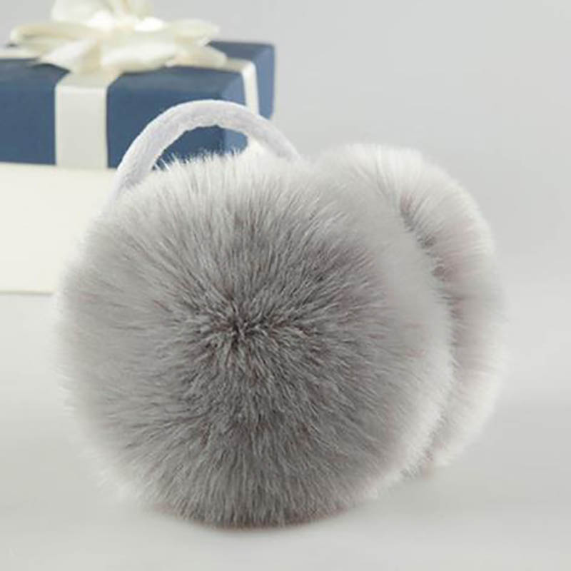 Calymel Winter Warm Fur Earmuffs Adult Children Women Men Lovers Ear Muffs Warmer Earflap Headband Unisex Earmuffs