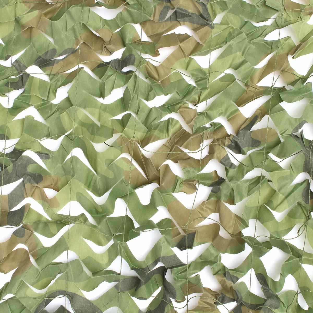 Açık Güneş Barınak 6x4m Gölgelik askeri kamuflaj Örgü Dekorasyon Güneşlik Kumaş Askeri Ordu Avcılık Kamp kapak ağı
