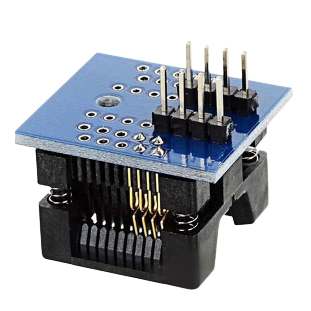 Durable SOP8 To DIP8 Wide-Body Seat Wide 200mil Pitch Programmer Adapter Socket Board Electronic Accessories