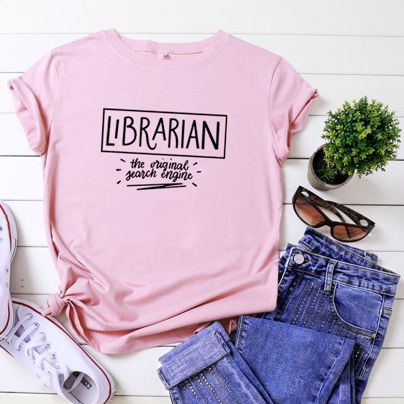 Librarian The Original Search Engine T Shirt Women Top Short Sleeve Tshirt Women Fashion Tee Shirt Femme Casual Camiseta Mujer
