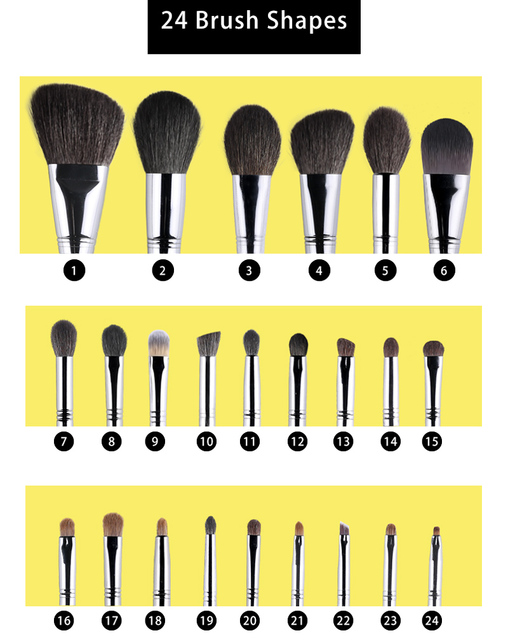 OVW Natural Goat Hair Eyeshadow Makeup Brushes Set nabor kistey Crease Blending Highlighting Brush pinceaux maquillage kit 2