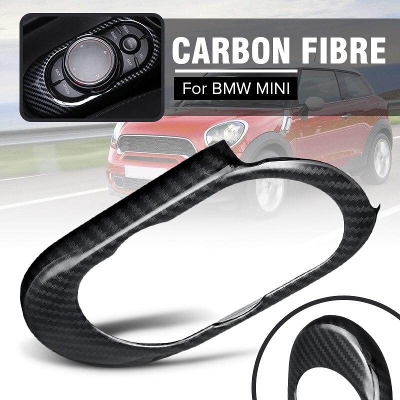 Auto Control Console Panel for BMW for MINI for Cooper S F55 F56 F57 Auto Interior Moulding Sticker Carbon Fibre Panel Cover