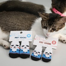 Dogs Cat Shoes Anti-Slip Knit Socks Pet Dog Thick Warm Paw Protector Booties Accessories for Puppy Kitten