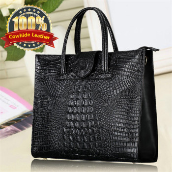 Luxury Fashion Crocodile Genuine Leather Totes Ladies Handbags Women Bags Designer Woman Shoulder Bag Female Bolsas Feminina