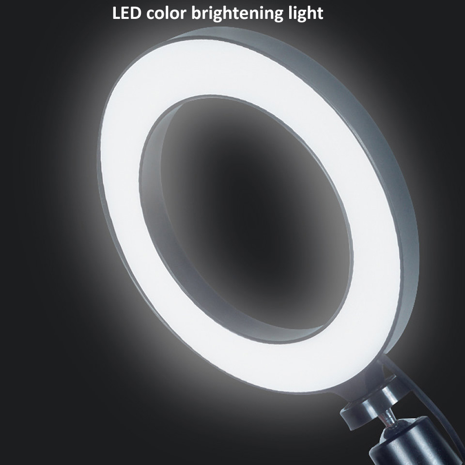 H9620b0ec3ab94716820cd8f0081a880eA OUTMIX 26cm Protable Selfie Ring Light for Youtube Live Streaming Studio Video LED Dimmable Photography Lighting With USB Cable