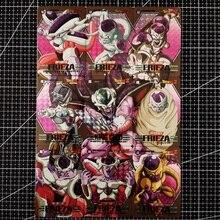 9pcs/set Dragon Ball Z Frieza Baqu 9in1 Refraction Super Saiyan Goku Vegeta Hobby Collectibles Game Anime Collection Cards
