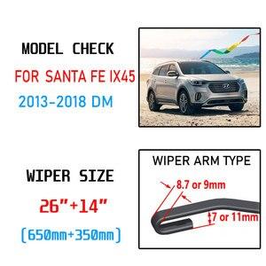 Image 2 - For Hyundai Santa Fe IX45 2013 2014 2015 2016 2017 2018 DM Accessories Front Windscreen Wiper Blade Brushes for Car Cutter U J