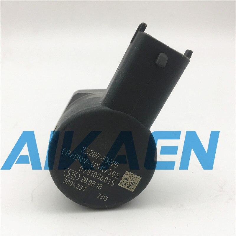 0281006015 régulateur de pression de carburant régulateur de pression à rampe commune d'origine DRV pour Y-ARIS A-URIS 1.4 D4D 23280-33020