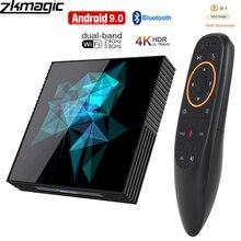Google tv box android 9,0 H96 MAX Rockchip 4G 16 GB 32 GB 64 GB Android tv box 2,4/5,0G WiFi Bluetooth 4,0 4 K 3D iptv Android box