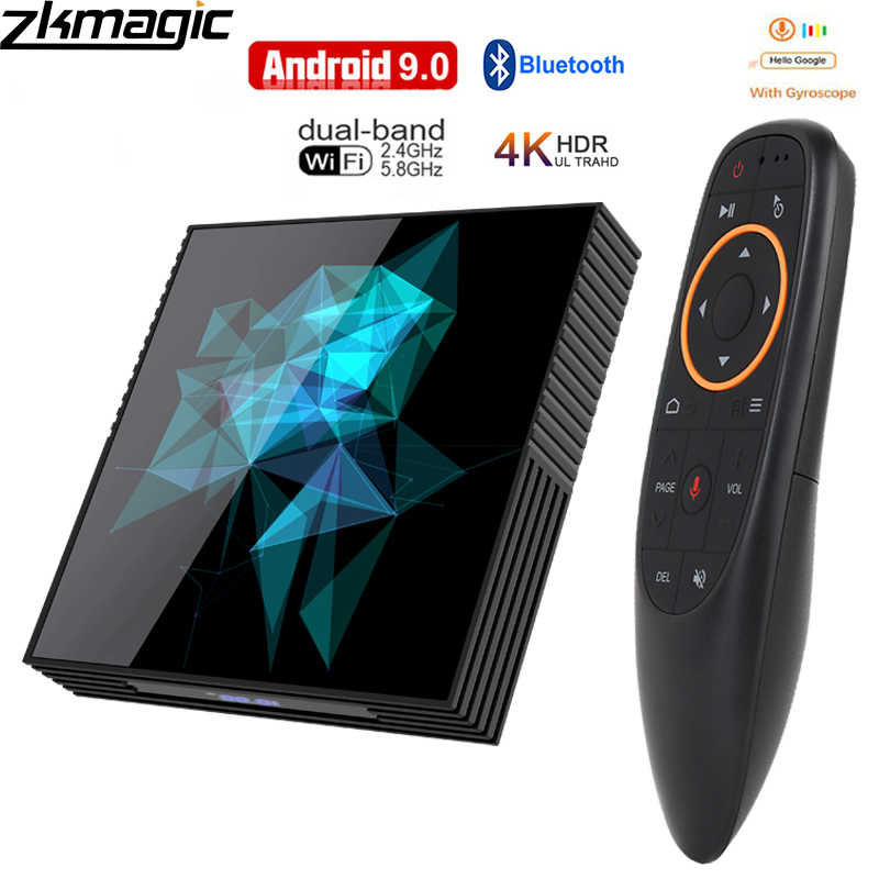 Google Tv box android 9.0 H96 MAX Rockchip 4G 16 GB 32 GB 64 GB Android tv box 2.4/5.0G WiFi Bluetooth 4.0 4 K 3D iptv Android box