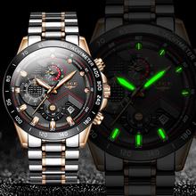 LIGE 2020 New Business Mens Watches Top Brand Luxury Stainle