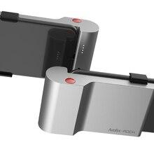 ROCK Typ C Schnelle Lade Zurück Clip Power Bank 5000mAh Mit Wireless Bluetooth Schießen Foto Telefon Halter Für Xiaomi für Samsung