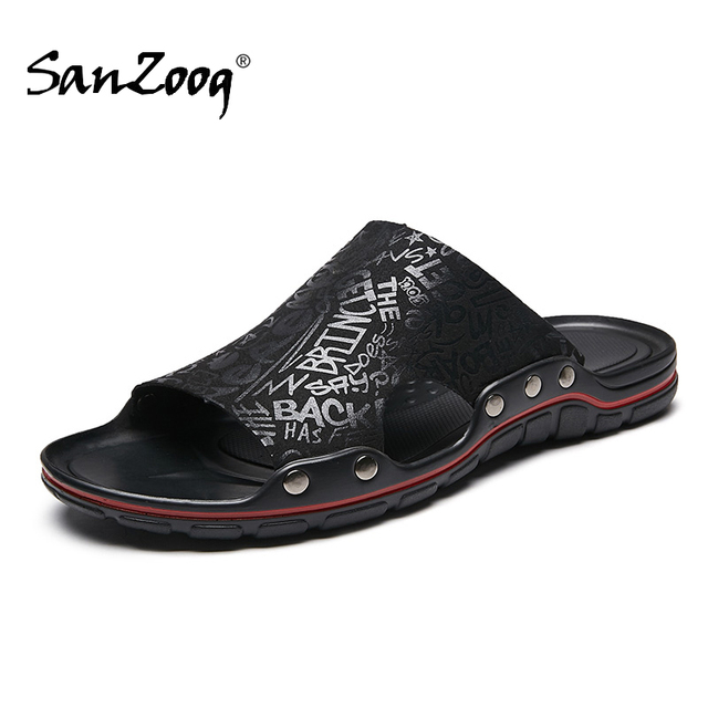 Fora de microfibra plana chinelos de couro dos homens casuais sapatos de verão slides deslizantes slide slide 2020 dropshipping