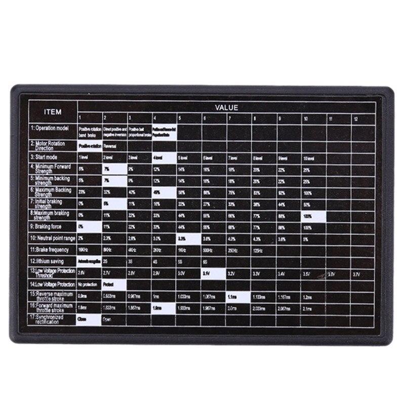 HFES bezszczotkowy programator 60A Esc do zestawu 1/10 Rc silnik ciężarówki samochodowej