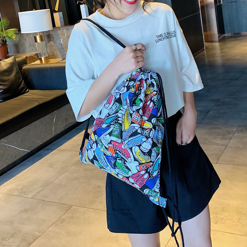 Fashion Portable Drawstring Bags Girls Shoes Bags Women Cotton Travel Pouch Storage Clothes Handbag High Quality Makeup Bags