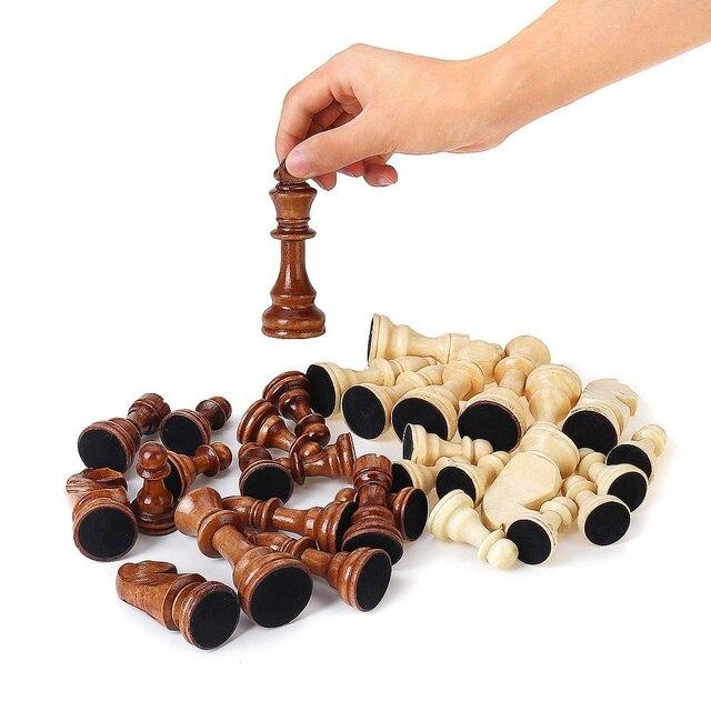 32 pièces, en bois, hauteur roi 105mm, jeu d'échecs de haute qualité 1