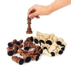 32 peças de xadrez de madeira rei altura 105mm xadrez jogo xadrez xadrez alta qualidade ou tabuleiro para a competição