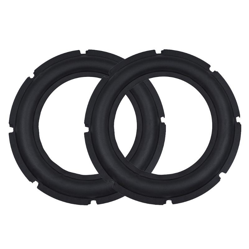 Speaker Surround Repair Foam Woofer Edge Elastic Rubber Ring 3/4/5/6.5/10/12Inch 2 PCS